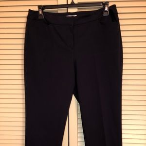 NWOT LIZ CLAIRBORNE NAVY DRESS PANTS S12